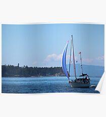 Sailing near Friday Harbor 2 Poster
