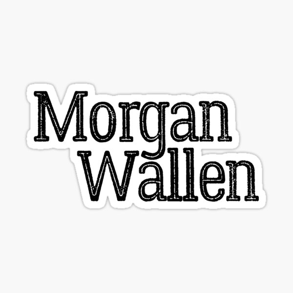 Distressed Morgan Wallen Design Sticker