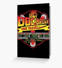 Doc E. Brown Time Travel Services Greeting Card