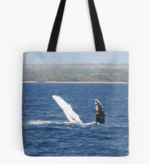 Humpback Whale Belly Up Tote Bag