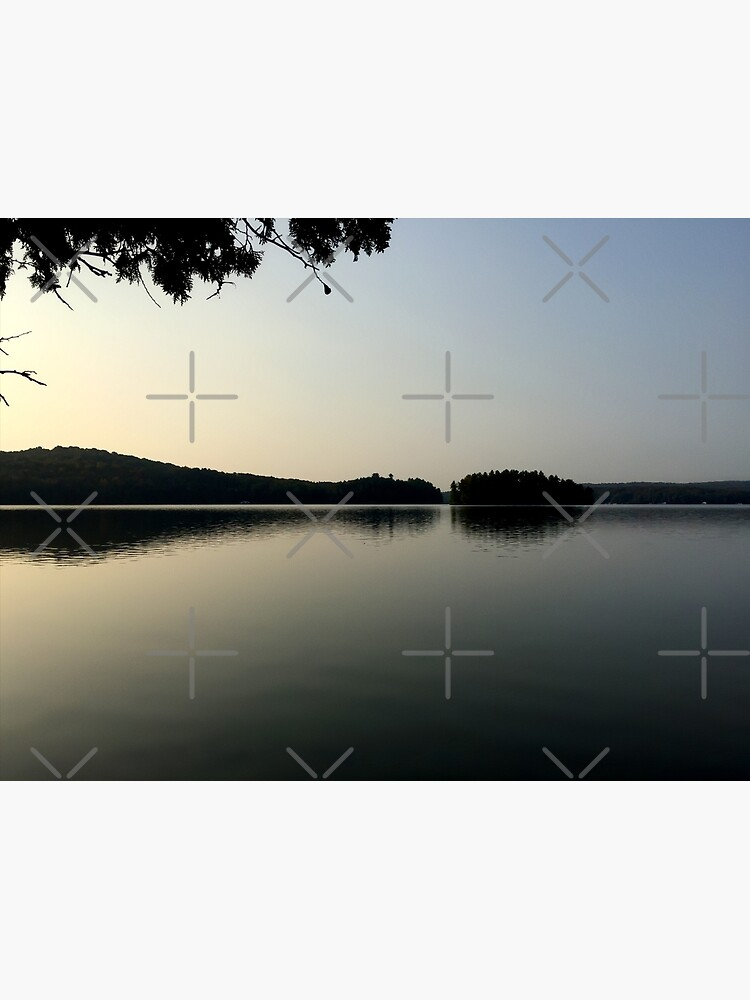 Calm Cottage Lake at Dawn, Sunrise With Islands by kpander