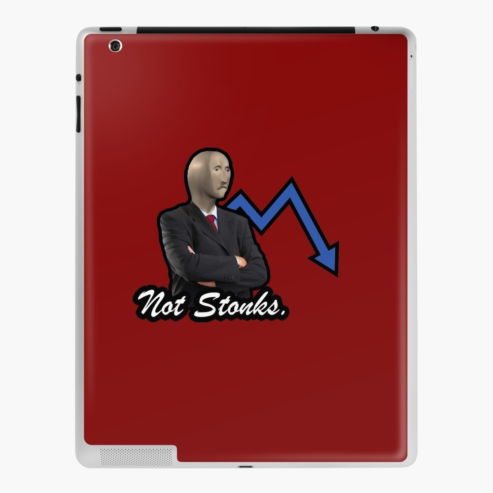 Not Stonks Ipad Case Skin By Hughhamilton Redbubble