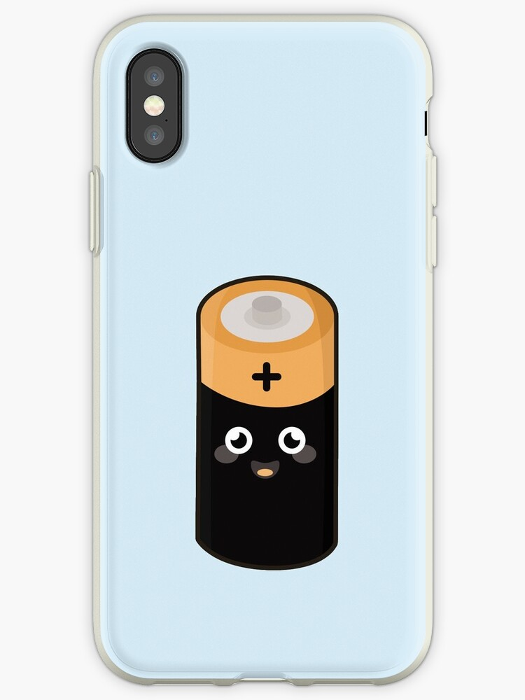 the latest a34e4 40382 'Kawaii Battery' iPhone Case by NirPerel