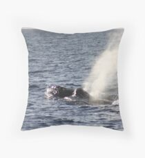 Humpbacks - Two Males Fighting Throw Pillow