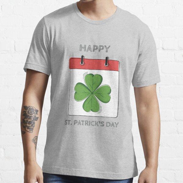 Clover Calendar Happy St. Patrick's Day Essential T-Shirt