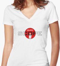 QuickScope Women's Fitted V-Neck T-Shirt