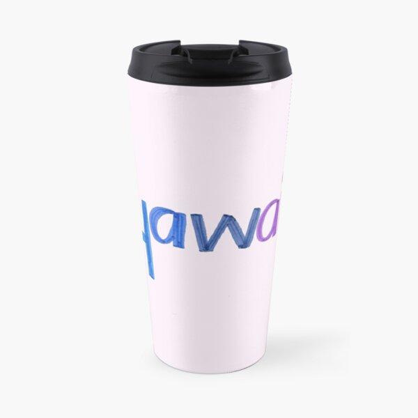 Hawaii text Travel Mug