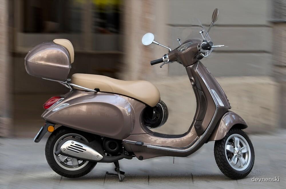Classic Vespa scooter by devnenski