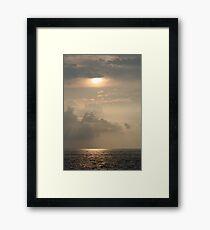 Hawaiian Water Sunset Framed Print