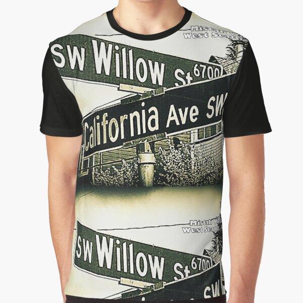 SW Willow Street & California Avenue SW, West Seattle, WA by Mistah Wilson Graphic T-Shirt