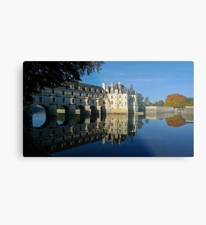 Chenonceau castle in autumn Metal Print