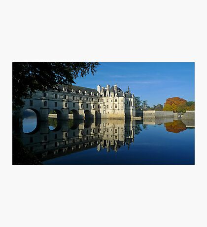Chenonceau castle in autumn Photographic Print