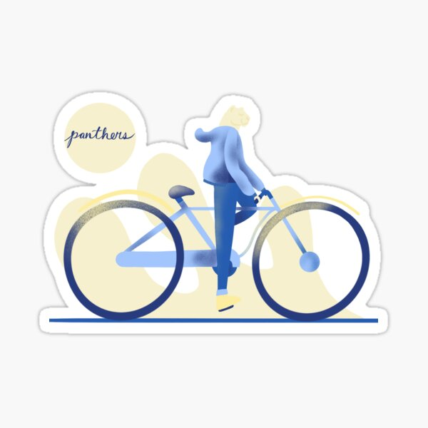 Panther on a Bicycle Sticker