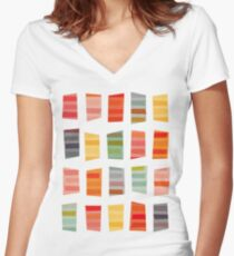 Beach Towels Women's Fitted V-Neck T-Shirt