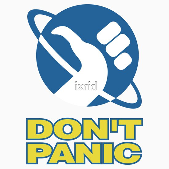 TShirtGifter presents: Hitchhiker's Guide To The Galaxy (Don't Panic)