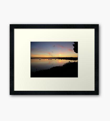Dorset Sunset Framed Print