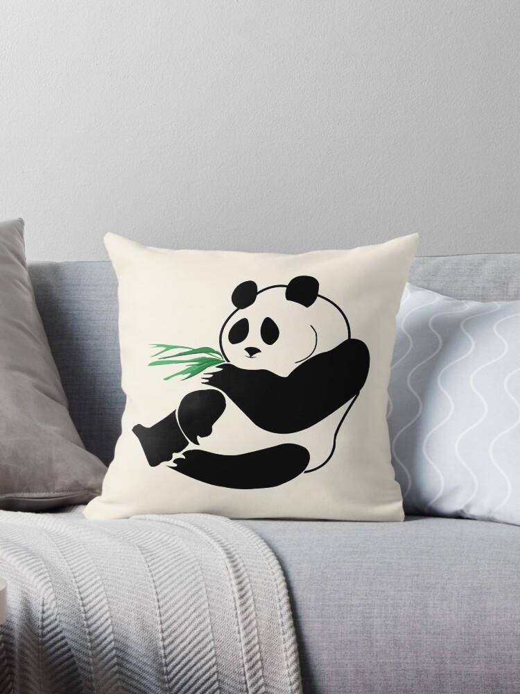Cartoon Panda Eating Bamboo Shoots by dreamgifts