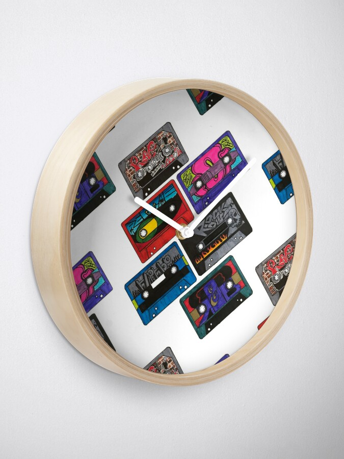 Alternate view of Cassette Tapes Clock