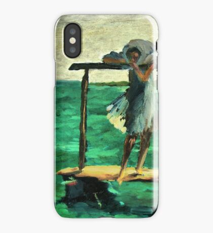The girl and the sea iPhone Case