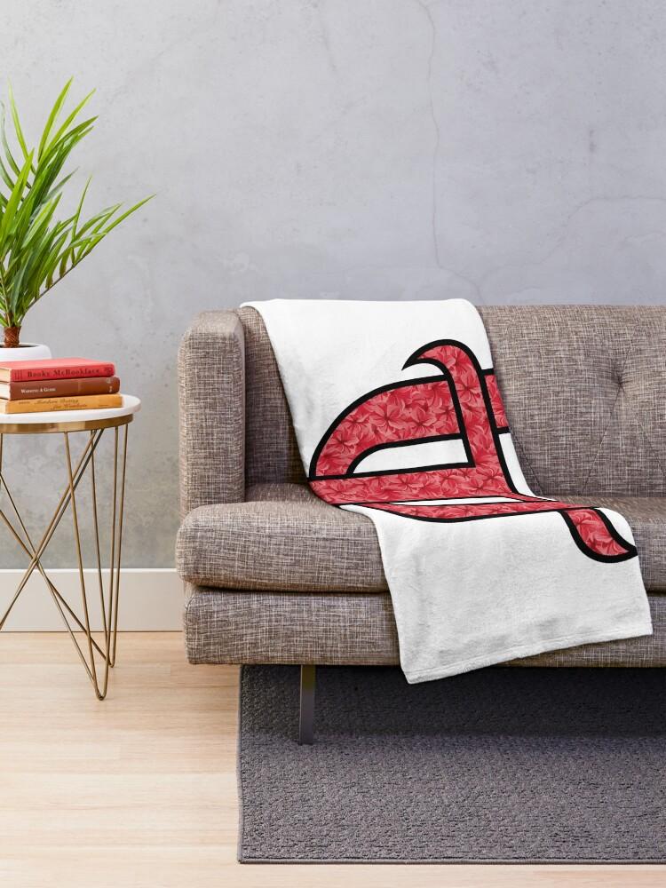 Alternate view of University of Tampa Flowery Design Throw Blanket