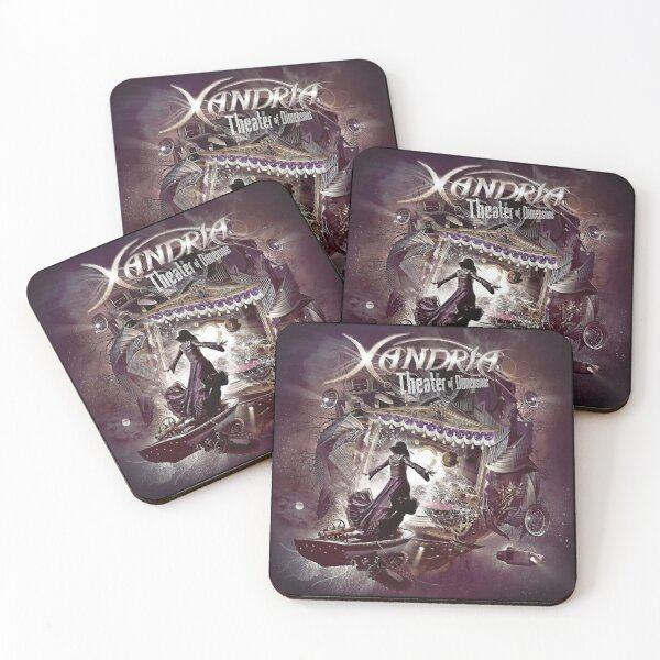 XANDRIA BAND -  THEATER OF DIMENSIONS Coasters (Set of 4)