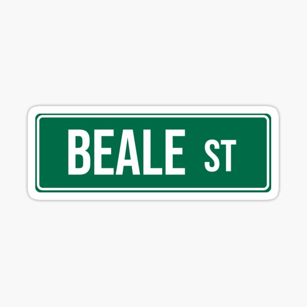 Beale St Sign Sticker