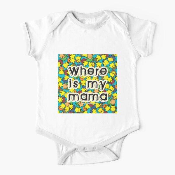 Welcome to SOCIAL MEDIA ERA - Where is my MAMA? Short Sleeve Baby One-Piece