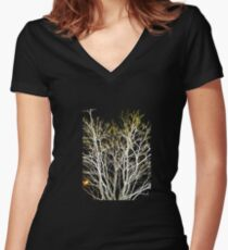 Iceland Tree 1 Women's Fitted V-Neck T-Shirt