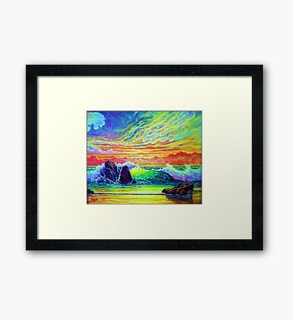 Red Skys in the Evening Framed Print
