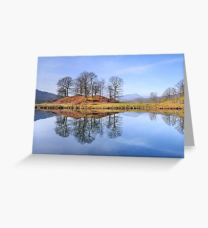 River Brathay Reflections, The Lake District, Cumbria Greeting Card