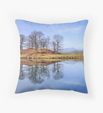 River Brathay Reflections, The Lake District, Cumbria Throw Pillow