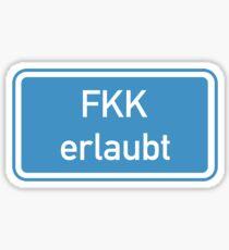 Nudismus erlaubt Zeichen, Deutschland Sticker