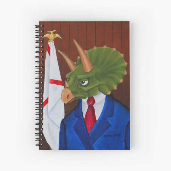 The Hon. Sir Reginald Triceratops Spiral Notebook