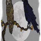 Owl & Raven by tkrosevear