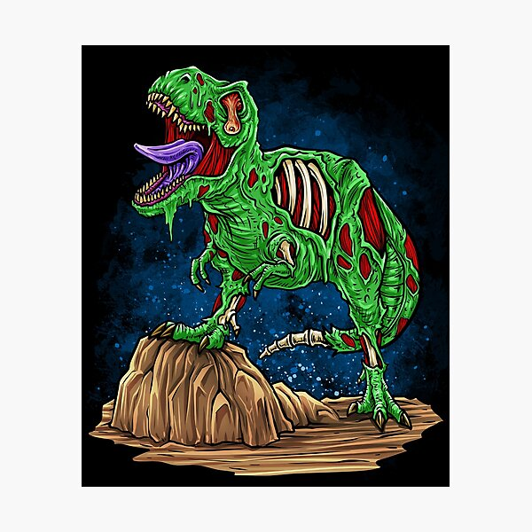 Bdaz Zombie Dinosaur Photographic Print By Meliafroggy Redbubble +5.000 vectores, fotos de stock y archivos psd. redbubble