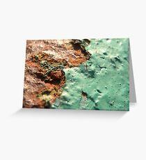 Green Rust Macro Greeting Card