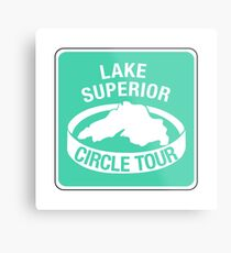 Lake Superior Circle Tour, Traffic Sign Metal Print
