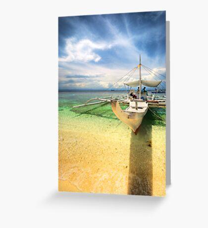 Bangka Sa Baybay Ng Dagat Greeting Card