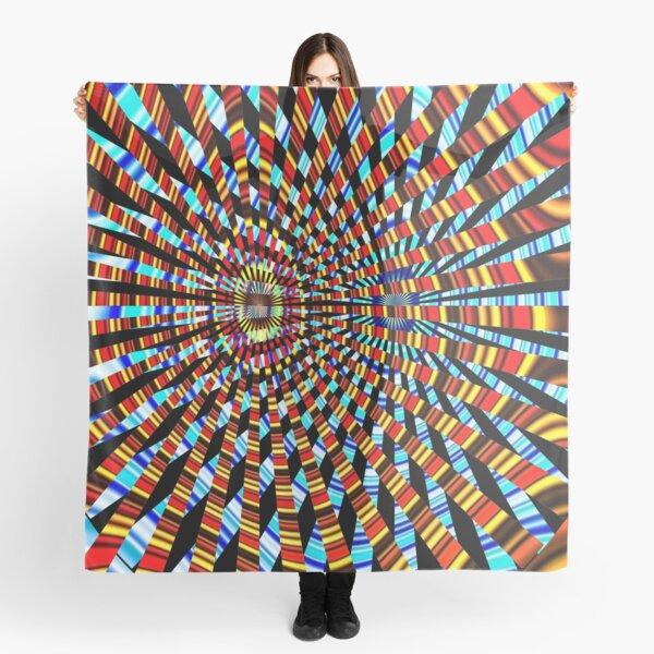 #Design, #abstract, #pattern, #illustration, psychedelic, vortex, modern, art, decoration Scarf