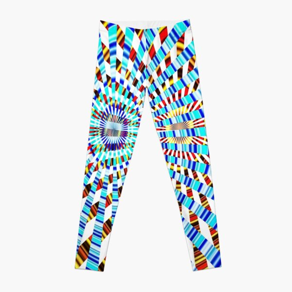 #Design, #abstract, #pattern, #illustration, psychedelic, vortex, modern, art, decoration Leggings
