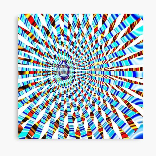 #Design, #abstract, #pattern, #illustration, psychedelic, vortex, modern, art, decoration Canvas Print