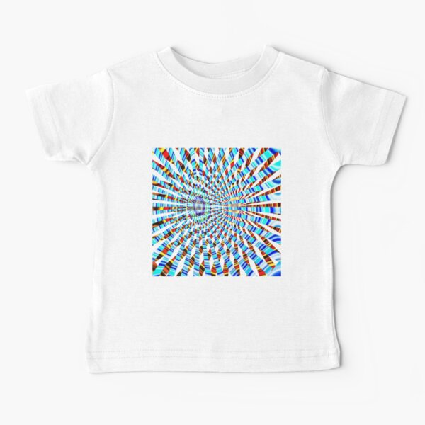 #Design, #abstract, #pattern, #illustration, psychedelic, vortex, modern, art, decoration Baby T-Shirt