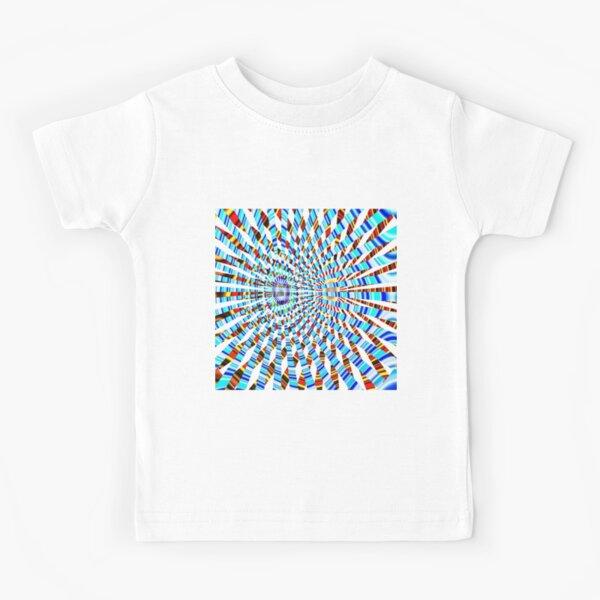 #Design, #abstract, #pattern, #illustration, psychedelic, vortex, modern, art, decoration Kids T-Shirt