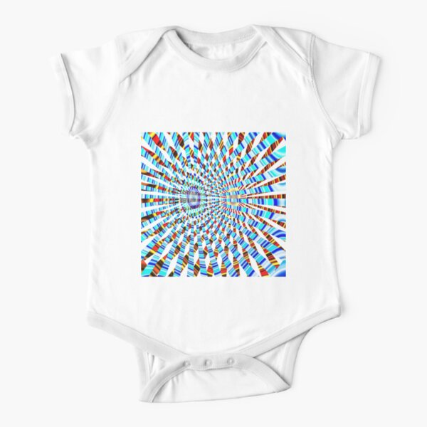 #Design, #abstract, #pattern, #illustration, psychedelic, vortex, modern, art, decoration Short Sleeve Baby One-Piece