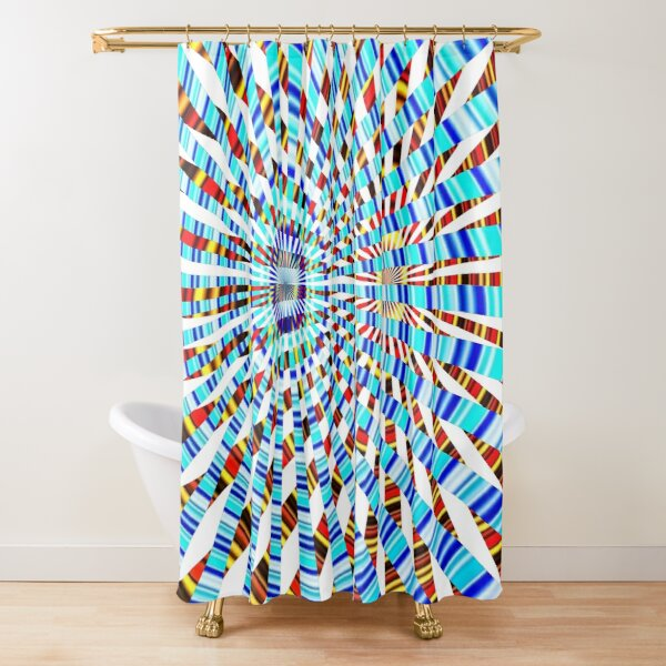 #Design, #abstract, #pattern, #illustration, psychedelic, vortex, modern, art, decoration Shower Curtain