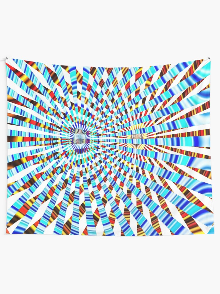 Alternate view of #Design, #abstract, #pattern, #illustration, psychedelic, vortex, modern, art, decoration Tapestry