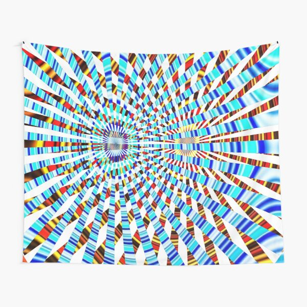 #Design, #abstract, #pattern, #illustration, psychedelic, vortex, modern, art, decoration Tapestry
