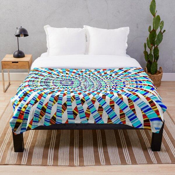 #Design, #abstract, #pattern, #illustration, psychedelic, vortex, modern, art, decoration Throw Blanket
