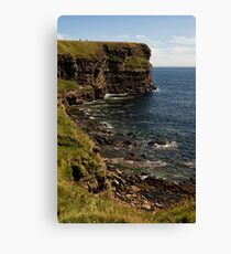 Standing at the Top of Scotland Canvas Print