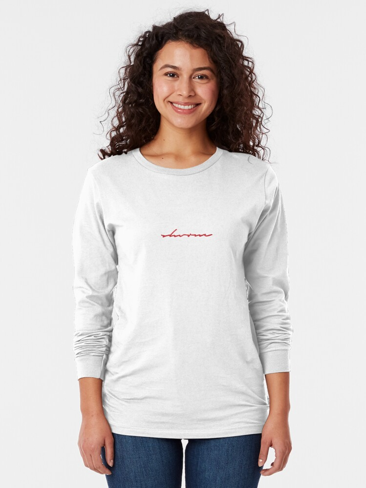 Alternate view of Signature (red) Long Sleeve T-Shirt